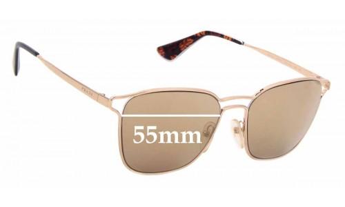 Sunglass Fix Sunglass Replacement Lenses for Prada SPR54T - 55mm Wide