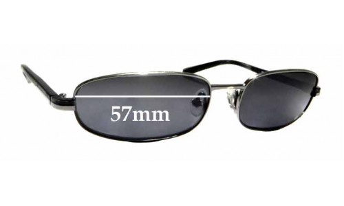 Sunglass Fix Sunglass Replacement Lenses for Prada SPR56E - 57mm Wide