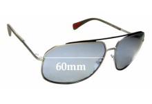 Sunglass Fix Sunglass Replacement Lenses for Prada SPR56R - 60mm Wide