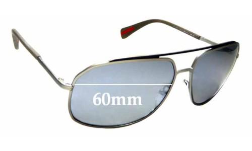 Sunglass Fix Sunglass Replacement Lenses for Prada SPR 56R - 60mm wide