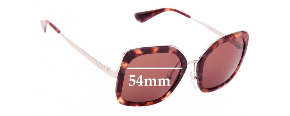 Sunglass Fix Sunglass Replacement Lenses for Prada SPR57U - 54mm Wide
