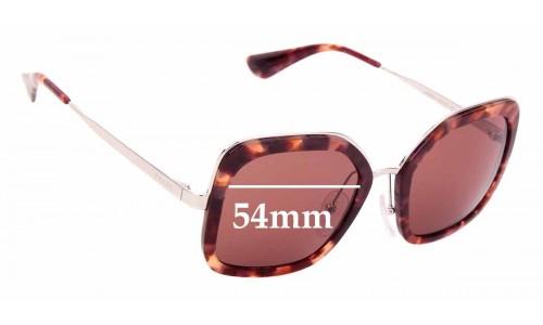 Sunglass Fix Sunglass Replacement Lenses for Prada SPR 57U - 54mm Wide