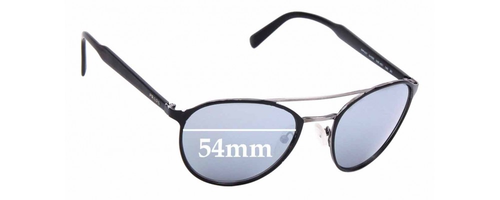 Sunglass Fix Sunglass Replacement Lenses for Prada SPR62T - 54mm Wide