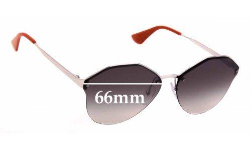 Sunglass Fix Sunglass Replacement Lenses for Prada SPR 64T - 66mm Wide