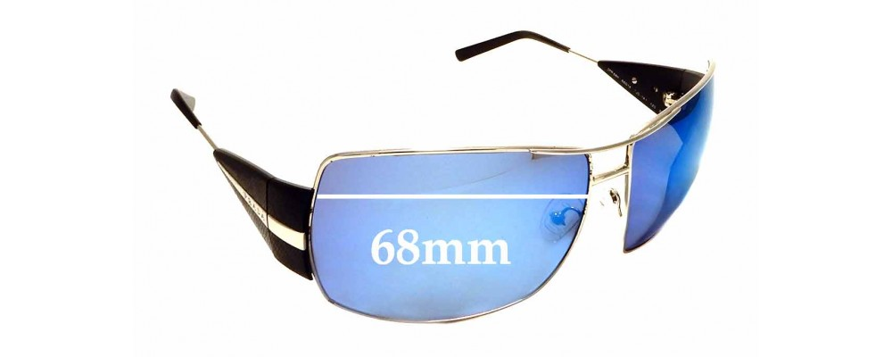 Sunglass Fix Sunglass Replacement Lenses for Prada SPR68H - 68mm Wide