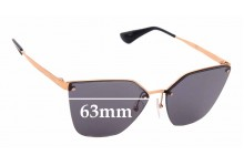 Sunglass Fix Sunglass Replacement Lenses for Prada SPR68T - 63mm Wide