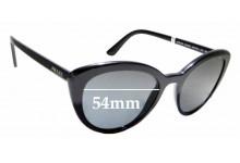 Sunglass Fix Sunglass Replacement Lenses for Prada SPR02V - 54mm Wide
