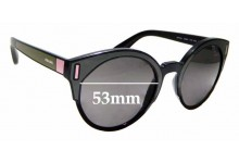 Sunglass Fix Sunglass Replacement Lenses for Prada SPR03U - 53mm Wide