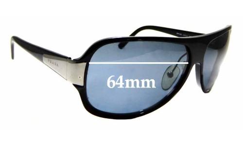 Sunglass Fix Sunglass Replacement Lenses for Prada SPR06G - 64mm Wide
