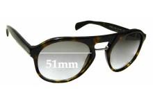 Sunglass Fix Sunglass Replacement Lenses for Prada SPR09P - 51mm Wide
