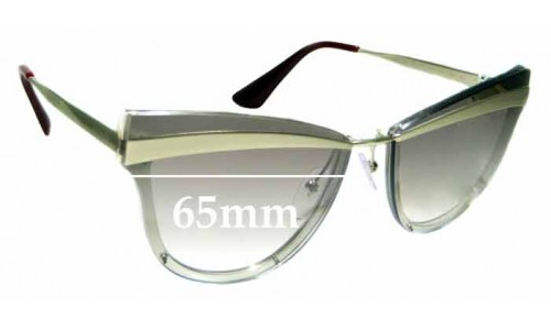 Sunglass Fix Sunglass Replacement Lenses for Prada SPR12U - 65mm Wide **The Sunglass Fix Cannot Provide Lenses For This Model Sorry**