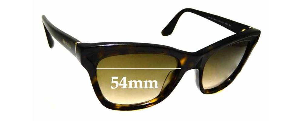 Sunglass Fix Sunglass Replacement Lenses for Prada SPR16P - 54mm Wide