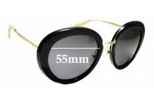 Sunglass Fix Sunglass Replacement Lenses for Prada SPR16Q - 55mm Wide