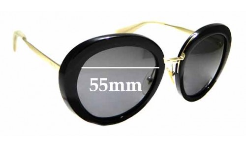 Sunglass Fix Sunglass Replacement Lenses for Prada SPR16Q- 55mm wide