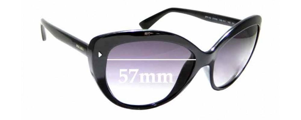 Sunglass Fix Sunglass Replacement Lenses for Prada SPR16S - 57mm Wide