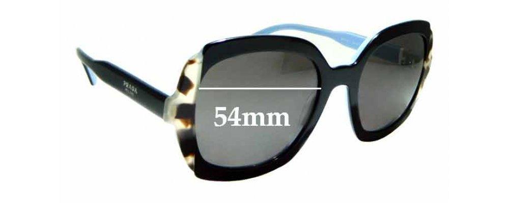 Sunglass Fix Sunglass Replacement Lenses for Prada SPR16U - 54mm Wide