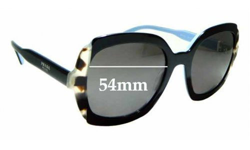 Sunglass Fix Sunglass Replacement Lenses for Prada SPR16U - 54mm Wide