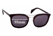Sunglass Fix Sunglass Replacement Lenses for Prada SPR17Q - 55mm Wide