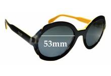 Sunglass Fix Sunglass Replacement Lenses for Prada SPR17U - 53mm Wide
