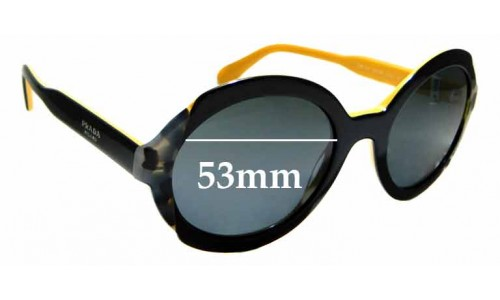 Sunglass Fix Sunglass Replacement Lenses for Prada SPR17U - 53mm Wide