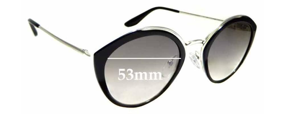 Sunglass Fix Sunglass Replacement Lenses for Prada SPR18U - 53mm Wide