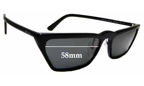 Sunglass Fix Sunglass Replacement Lenses for Prada SPR19U - 58mm Wide
