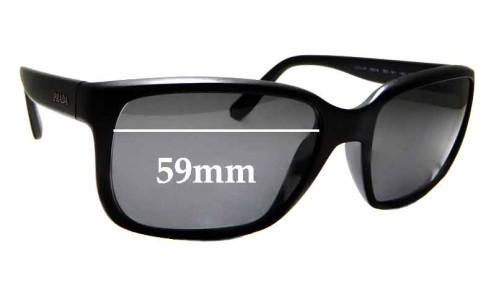 Sunglass Fix Sunglass Replacement Lenses for Prada SPR21R - 59mm Wide
