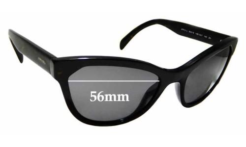 Sunglass Fix Sunglass Replacement Lenses for Prada SPR21S - 56mm wide