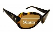 Sunglass Fix Sunglass Replacement Lenses for Prada SPR31N - 56mm Wide