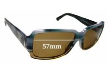 Sunglass Fix Sunglass Replacement Lenses for Prada SPR32N-A - 57mm Wide