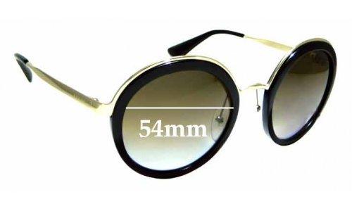 Sunglass Fix Sunglass Replacement Lenses for Prada SPR50T - 54mm Wide