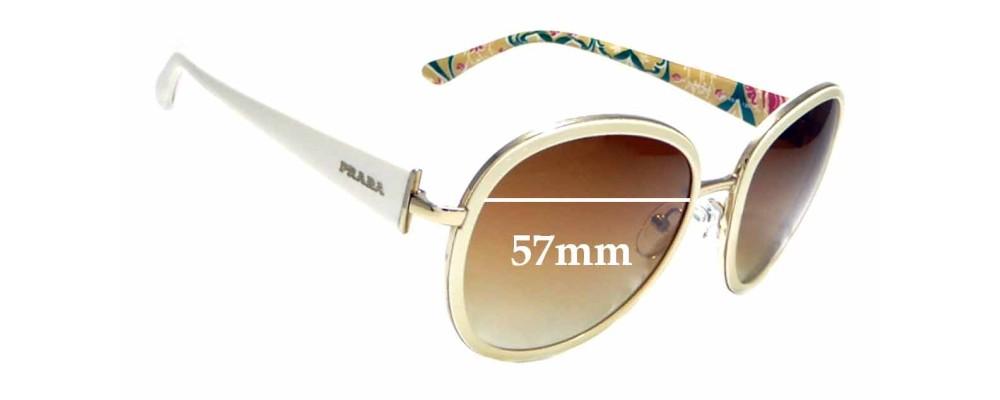 Sunglass Fix Sunglass Replacement Lenses for Prada SPR51N - 57mm Wide