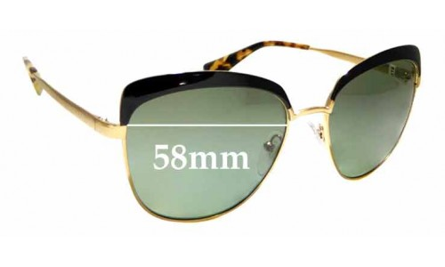 Sunglass Fix Sunglass Replacement Lenses for Prada SPR51T - 56mm Wide