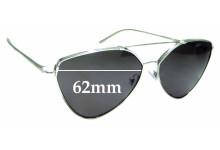 Sunglass Fix Sunglass Replacement Lenses for Prada SPR51U - 62mm Wide