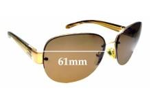 Sunglass Fix Sunglass Replacement Lenses for Prada SPR60L - 61mm Wide