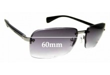 Sunglass Fix Sunglass Replacement Lenses for Prada SPR61N - 60mm Wide