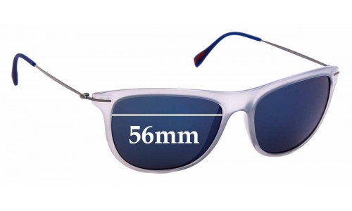 Sunglass Fix Sunglass Replacement Lenses for Prada SPS01P - 56mm Wide