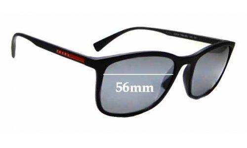 Sunglass Fix Sunglass Replacement Lenses for Prada SPS 01T - 56mm wide