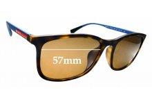 Sunglass Fix Sunglass Replacement Lenses for Prada SPS01T-F - 57mm Wide