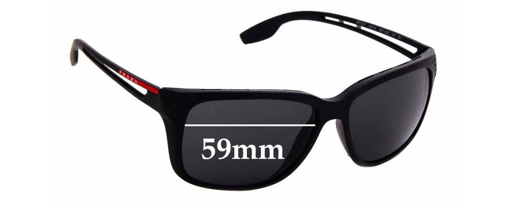 Sunglass Fix Sunglass Replacement Lenses for Prada SPS03T - 59mm Wide