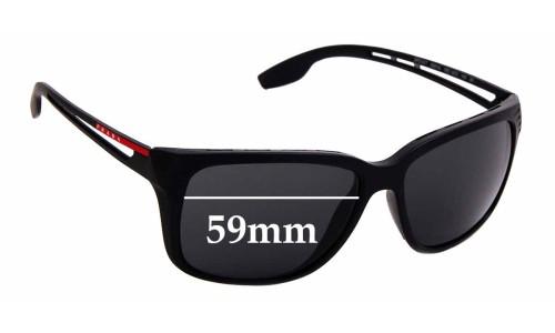 Sunglass Fix Sunglass Replacement Lenses for Prada SPS 03T - 59mm wide