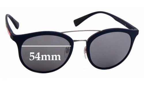 Sunglass Fix Sunglass Replacement Lenses for Prada SPS04R - 54mm Wide