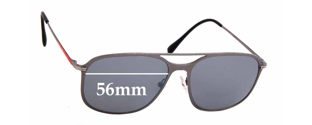 Sunglass Fix Sunglass Replacement Lenses for Prada SPS53T - 56mm Wide