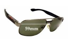 Sunglass Fix Sunglass Replacement Lenses for Prada SPS54M - 59mm Wide