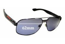 Sunglass Fix Sunglass Replacement Lenses for Prada SPS54M - 62mm Wide