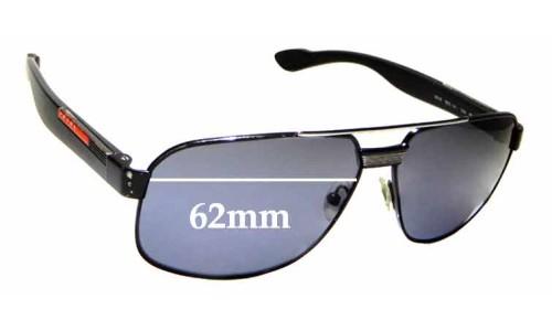 Sunglass Fix Sunglass Replacement Lenses for Prada SPS 54M - 62mm wide
