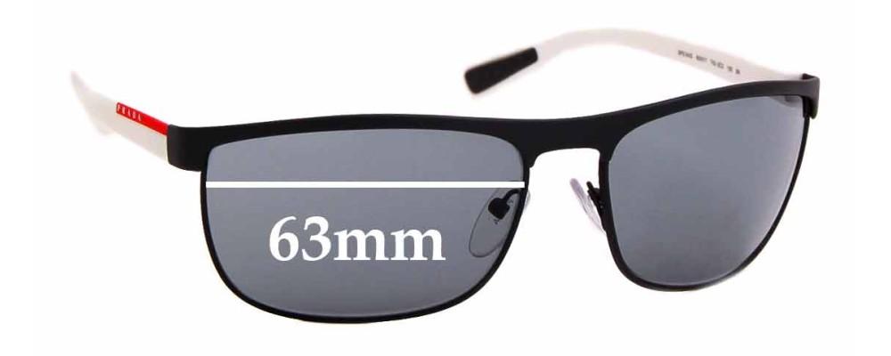 Sunglass Fix Sunglass Replacement Lenses for Prada SPS54Q - 63mm Wide
