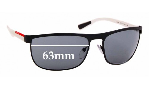 Sunglass Fix Sunglass Replacement Lenses for Prada SPS 54Q - 63mm Wide