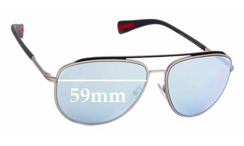 Sunglass Fix Sunglass Replacement Lenses for Prada SPS 55R - 59mm Wide