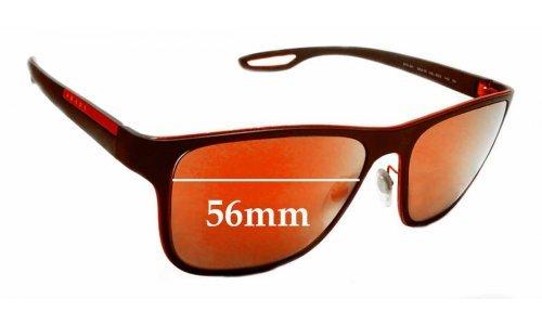 Sunglass Fix Sunglass Replacement Lenses for Prada SPS56Q - 56mm wide